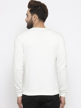 white cotton chest print sweatshirt - 14484828 - Standard Image - 3