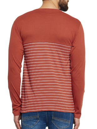 orange cotton pocket  t-shirt - 14485638 - Standard Image - 3