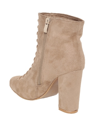 beige suede ankle boot - 14485716 - Standard Image - 3