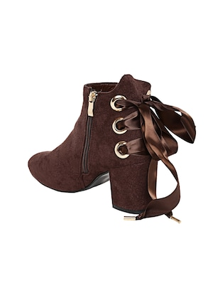 brown suede ankle boot - 14485744 - Standard Image - 3