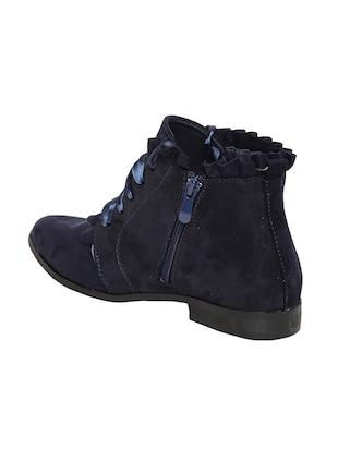 navy lace-up ankle  boot - 14485787 - Standard Image - 3