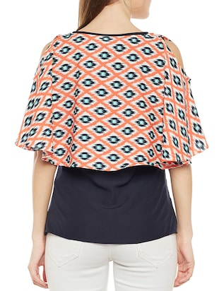 Ikat Bow detail overlay top - 14486473 - Standard Image - 3