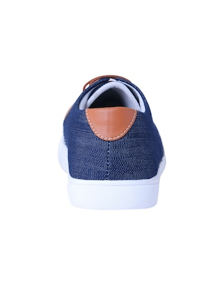 blue Denim lace up sneaker - 14486532 - Standard Image - 3
