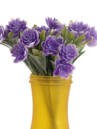 Awesome Purple Shade Decorative Artificial Flowers - 14490701 - Standard Image - 3