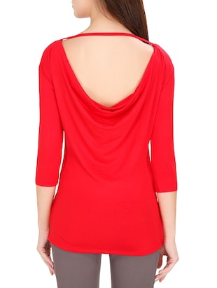red solid top - 14493053 - Standard Image - 3