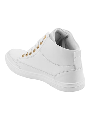 white leatherette sneaker - 14493669 - Standard Image - 3