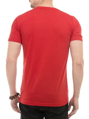 red cotton front print tshirt - 14494966 - Standard Image - 3