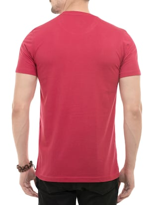 pink cotton front print tshirt - 14494972 - Standard Image - 3