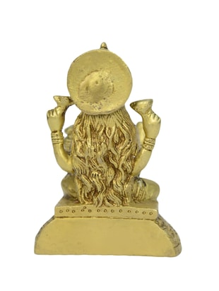Decorative Brass Statue of Sitting Laxmi Devi Handicrafts Product - 14496457 - Standard Image - 3