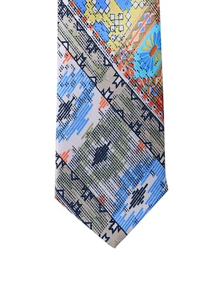 multi colored silk & satin tie - 14496663 - Standard Image - 3