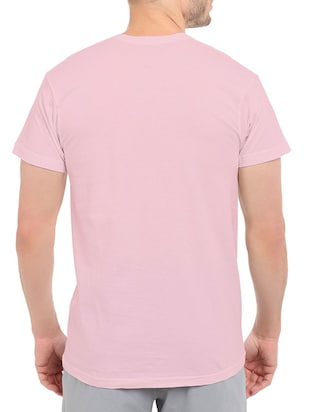 pink cotton front print t-shirt - 14497443 - Standard Image - 3