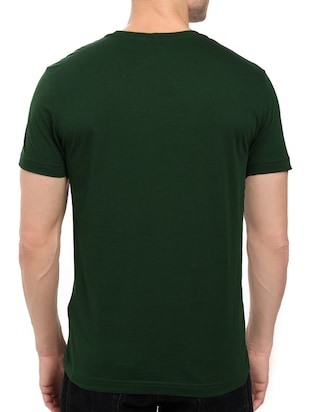 green cotton chest print tshirt - 14497507 - Standard Image - 3