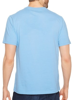 blue cotton front print t-shirt - 14497736 - Standard Image - 3