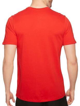 red cotton chest print tshirt - 14497745 - Standard Image - 3