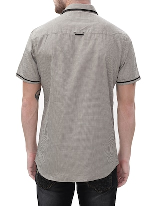 grey cotton casual shirt - 14498542 - Standard Image - 3