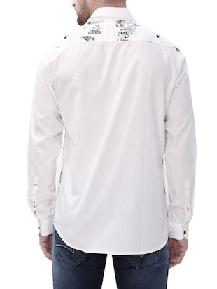 white cotton casual shirt - 14498570 - Standard Image - 3