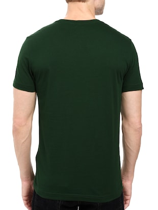 green cotton chest print tshirt - 14498656 - Standard Image - 3