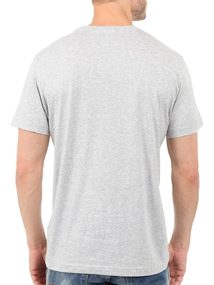 grey cotton chest print tshirt - 14498776 - Standard Image - 3