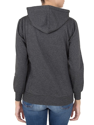 grey hooded sweatshirt - 14501281 - Standard Image - 3