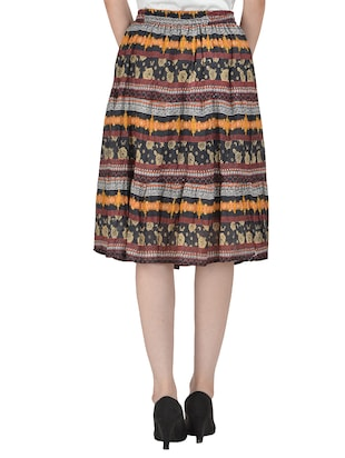 Multicolored flared skirt - 14501360 - Standard Image - 3
