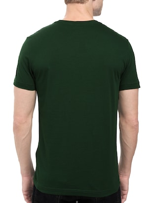green cotton chest print tshirt - 14501607 - Standard Image - 3