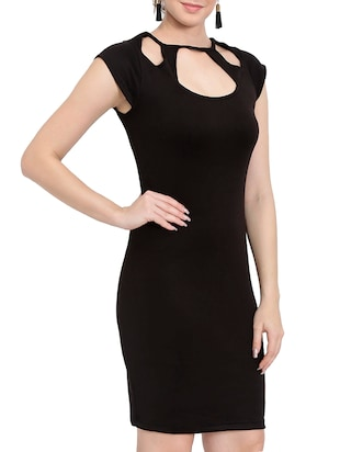 solid black sheath dress - 14501662 - Standard Image - 3