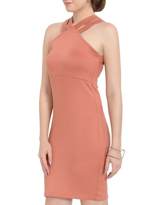 Pink Colored Bodycon Dress - 14501667 - Standard Image - 3