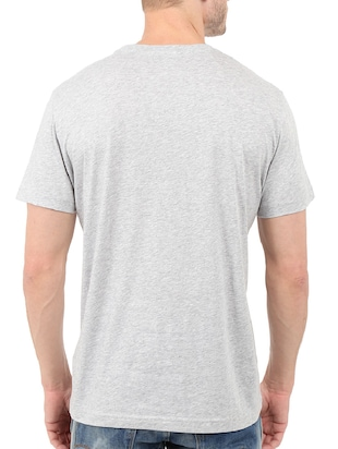grey cotton chest print tshirt - 14502016 - Standard Image - 3