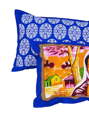 152 TC Pure Cotton Traditional Rajasthani Printed Double Bed Sheet With 2 Pillow Covers - 14502826 - Standard Image - 6