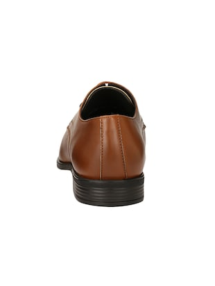tan Leather formal derby - 14503237 - Standard Image - 3