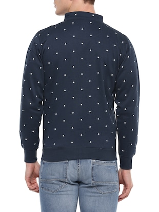 blue cotton all over print sweatshirt - 14504456 - Standard Image - 3