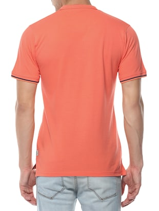 orange cotton t-shirt - 14504466 - Standard Image - 3