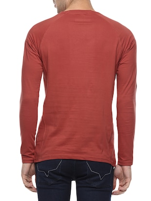 red cotton raglan t-shirt - 14504488 - Standard Image - 3