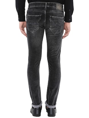 black cotton washed jeans - 14504558 - Standard Image - 3