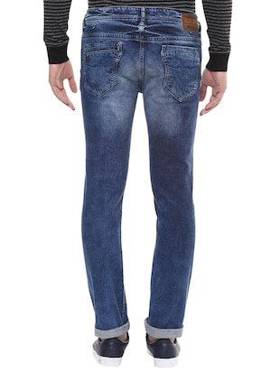 blue cotton washed jeans - 14504560 - Standard Image - 3