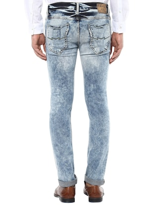 blue cotton washed jeans - 14504624 - Standard Image - 3