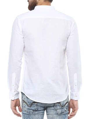 white cotton casual shirt - 14504928 - Standard Image - 3