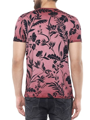pink cotton all over print t-shirt - 14504938 - Standard Image - 3