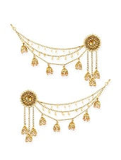 gold zinc drop earrings -  online shopping for earrings