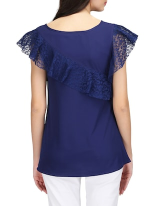 Ruffled lace detail top - 14506349 - Standard Image - 3