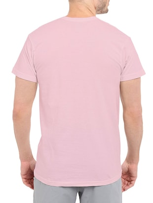 pink cotton chest print tshirt - 14506447 - Standard Image - 3