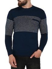 blue acrylic pullover -  online shopping for Pullovers