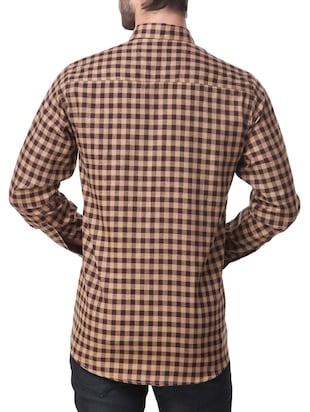 brown cotton casual shirt - 14510375 - Standard Image - 3