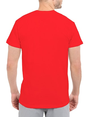 red cotton chest print tshirt - 14511410 - Standard Image - 3