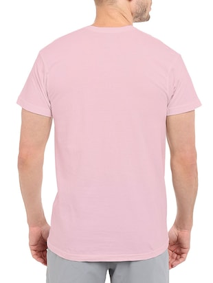 pink cotton chest print tshirt - 14511564 - Standard Image - 3