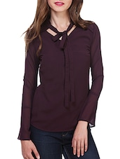 solid purple top -  online shopping for Tops