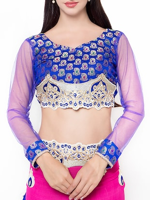 pink embroidered saree with blouse - 14512256 - Standard Image - 3