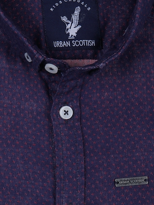 navy blue cotton shirt - 14513364 - Standard Image - 3