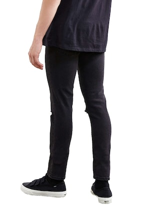 black denim slash knee jeans - 14515583 - Standard Image - 3