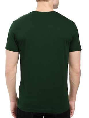 green cotton chest print tshirt - 14515964 - Standard Image - 3